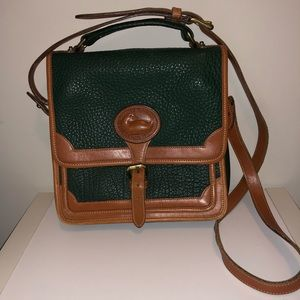 Vintage Pebbled Leather Messenger Bag